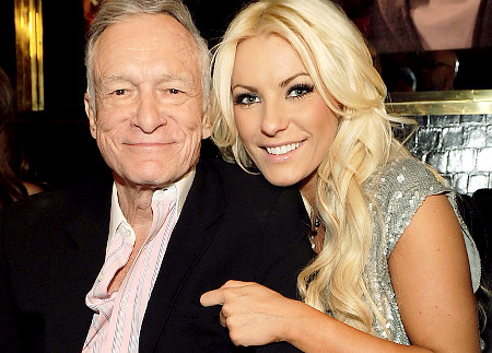Hugh Hefner and Crystal Harris. Congratulations Hef. And Ms. Harris, I wish you ever happiness.