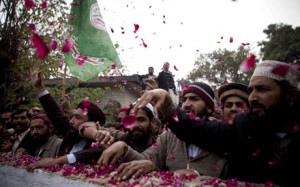 Rose petals for a killer.  A culture of honour, and passion about a very destructive belief.