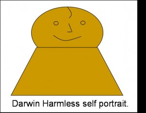 Darwin Harmless self portrait, total dickhead.