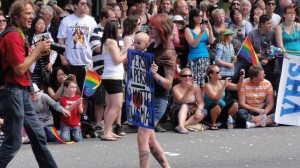 Vancouver Pride Parade - Yes, a person is a person, no matter how small.  So keep the knives away from his dick.