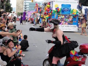 Vancouver Pride Parade - Not sure of the gender, but I applaud the expression.