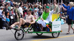 Vancouver Pride Parade - Somehow I can believe that Elizabeth May is sincere.