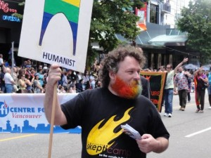 Vancouver Pride Parade - We humanist and atheists were well represented.