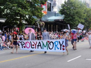 Vancouver Pride Parade - maybe polyamory is an idea whose time has come.  Let's love everybody.