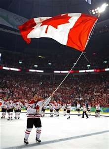 Canadian associate flag waving with dumb Americans and reserve theirs for hockey games.