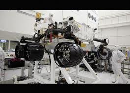 Curiosity, the Mars rover.  This thing is big.  A lot to land on another planet.