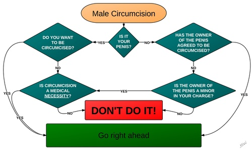 The Jon S Wun flow chart circumcision decision flow chart.  If you need to ask...