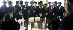 Jews meet with Mayor Bloomberg and health officials in New York to discuss circumcision.