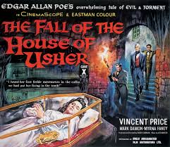 The poster artist took liberties.  There was no class coffin in the movie.