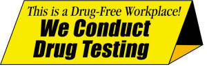 Drug-Testing-Table-Sign