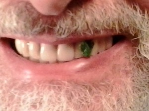spinach caught in teeth