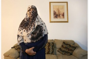 Zunera Ishaq, or possibly somebody else, wearing a niqab.